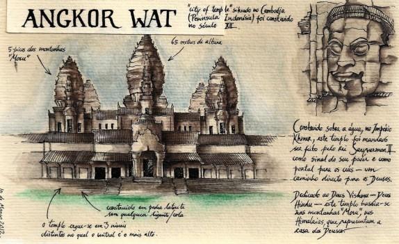 -foto 3- Apuntes de Angkor Wat por Henri Mouhot, 1855